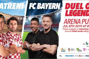 FC Bayern München legends vs. Croatian football legends in the ancient Roman amphitheatre of Pula