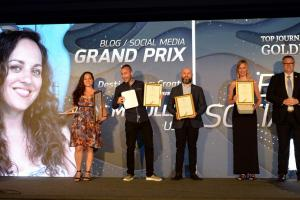 The Zlatna penkala for the best journalists in tourism