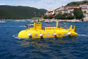 Yellow semi – submarine in Rabac