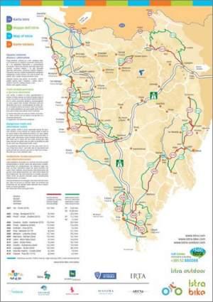 Istra Bike: Mappa dell'Istria