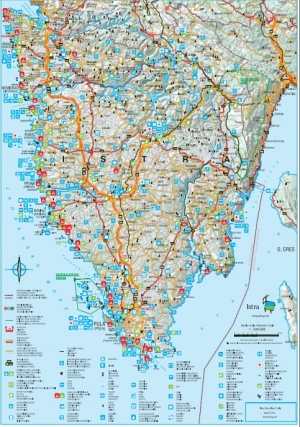Istria: Tourist map